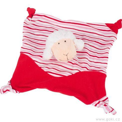 Mazlíček usínáček ovečka, červená - Goki