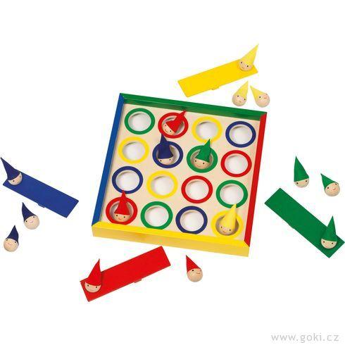 Společenská hra– Kloboučku hoptrpaslíci - Goki