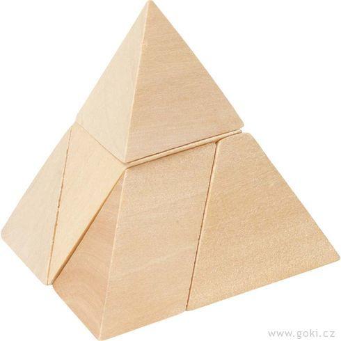 Dřevěný hlavolam – Pyramida - Goki