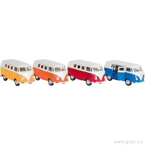 VWClassical Bus(1962) sezpětným natahováním, měřítko 1:37 - Goki