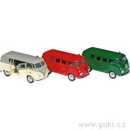 Volkswagen Microbus (1962) sezpětným natahováním, měřítko 1:34-39
