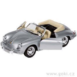 Porsche 356B Cabriolet, volnoběh, měřítko 1:24