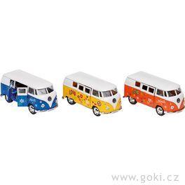 Volkswagen Microbus (1962) spotiskem nasetrvačník, měřítko 1:34-39