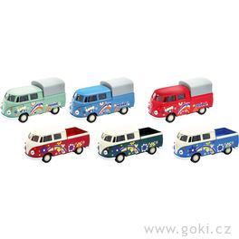 Volkswagen T1DoKa Pick-up sezpětným natahováním, měřítko 1:34-39