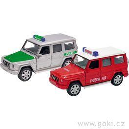 Mercedes Benz G– policie ahasiči, zpětné natahování