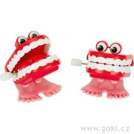 Klapací zuby nanatahování, žertovná hračka