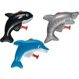 Stříkající hračky dovody – Delfín, kostaka nebo žralok