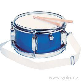 Kovový bubínek modrý, snare, 28cm