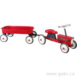 Odrážedlo – odstrkovadlo traktor svozíkem agumovými koly