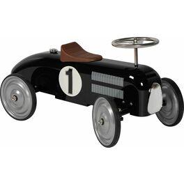 Odrážedlo – odstrkovadlo černá závodnička, gumová kola