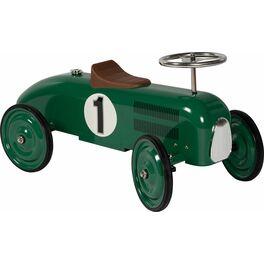 Odrážedlo – odstrkovadlo zelená závodnička, gumová kola