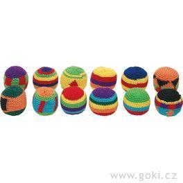 Háčkované žonglovací míčky Hakisáky