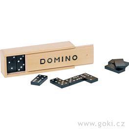 Domino vdřevěné krabičce, 28dílů