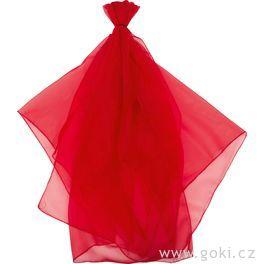 Šifonový šátek – červený 140x140cm