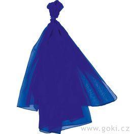 Šifonový šátek – modrý 140x140cm
