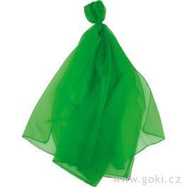 Šifonový šátek – zelený 140x140cm
