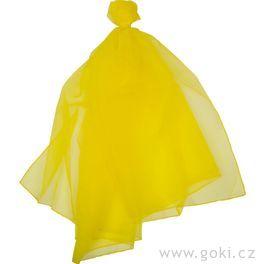Šifonový šátek – žlutý 140x140cm