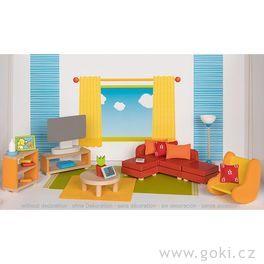 Obývací pokoj – nábytek dodomečku propanenky, 23díly
