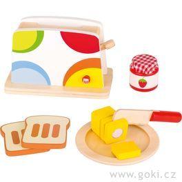 Toustovač spříslušenstvím – dětské nádobí dokuchyňky