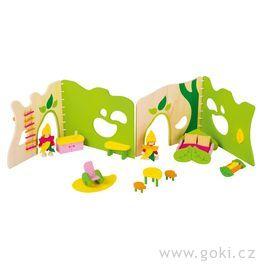 Lesní domeček – flexibilní domeček propanenky svybavením, 17dílů