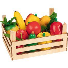 Směs ovoce azelenina vdřevěné přepravce, 10ks
