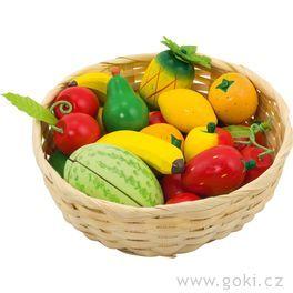 Dětský krámek – ovoce vkošíku, 23ks