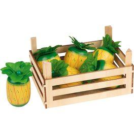 Ananas vdřevěné přepravce, 5ks