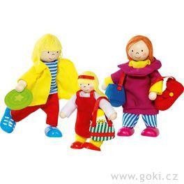 Panenky dodomečku – ohebné panenky rodina dovolené, 3ks
