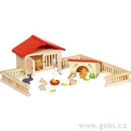 Dřevěná ohrada akrálíčci