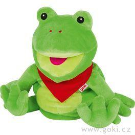 Maňásek naruku – zelený žabák Frilo