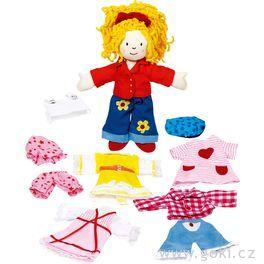 Malá oblékací látková panenka