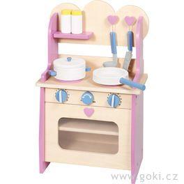 Dřevěná kuchyňka spříslušenstvím, 7dílů