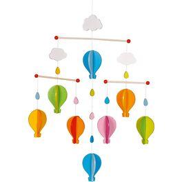 Dřevěný závěsný kolotoč –Horkovzdušný balon
