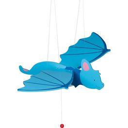 Modrý netopýr – létající závěsná dekorace