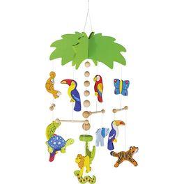 Palma aexotická zvířátka – závěsná dekorace zedřeva