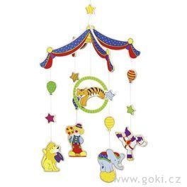 Závěsný kolotoč barevný cirkus