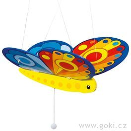 Dřevěný létající motýl – létající závěsná dekorace