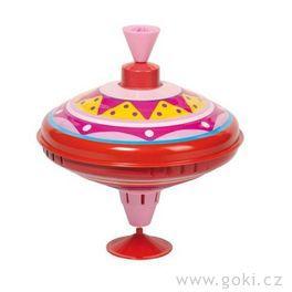 Hrající káča růžová, 18,5 cm