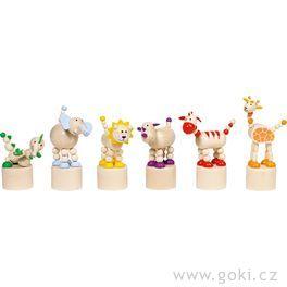 Mačkací figurky – zvířátka Afrika