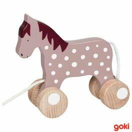 Tahací dřevěný koník Malve