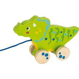 Zelený dinosaurus našňůře