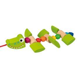 Usměvavý krokodýl – tahací hračka naprovázku