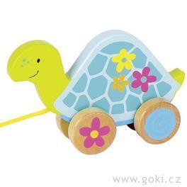 Tahací hračka zedřeva – Želva