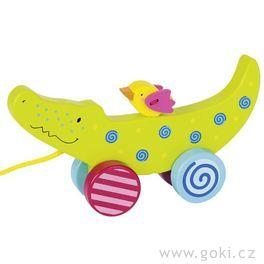 Tahací hračka zedřeva – Krokodýl