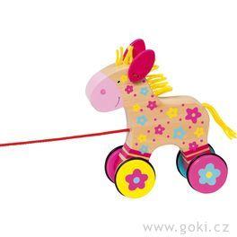 Dřevěná tahací hračka – Koník Clara