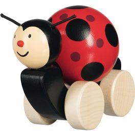 Dřevěná hračka beruška stočící sekuličkou