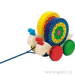 Dřevěná tahací hračka – Šneci
