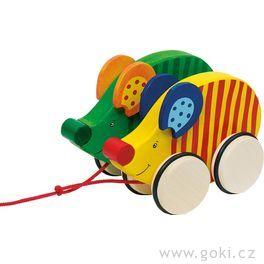 Dřevěná tahací hračka – Myšky
