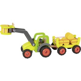 Traktor sčelním nakladačem avlečkou sena, 55cm
