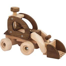 Dřevěné auto bagr, přírodní dřevo – Goki nature